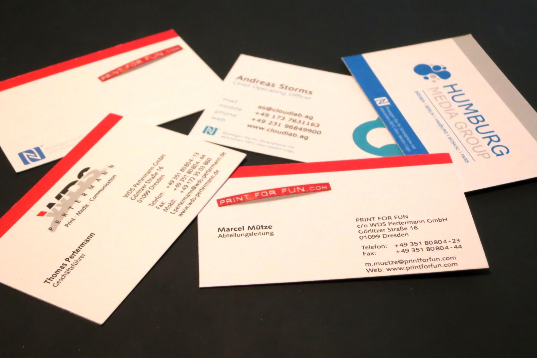 Visitenkarten mit NFC